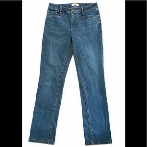 J Jill Denim Straight Leg Smooth Fit Stretch Jeans